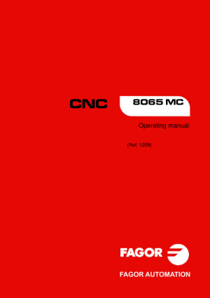 Fagor CNC 8065 MC Operating Manual