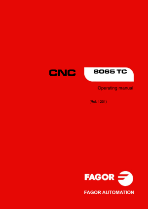 Fagor CNC 8065 TC Operating Manual