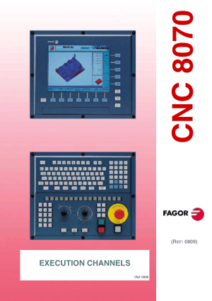 Fagor 8070 CNC Execution Channels