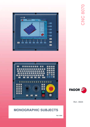 Fagor 8070 CNC Monographic Subjects