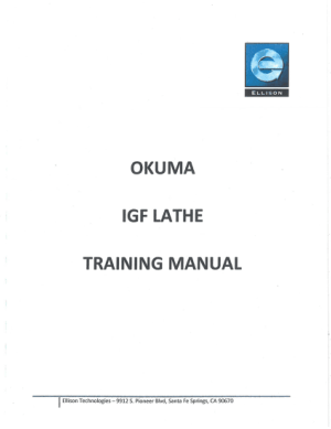 Okuma IGF Lathe Training Manual