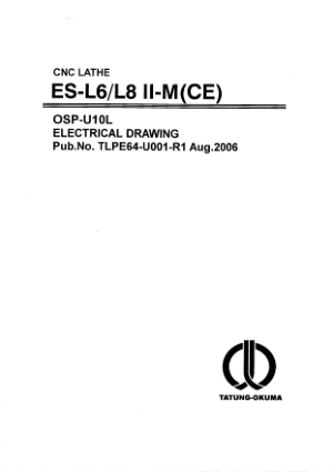 Okuma ES-L6/L8ll-M CE OSP-U10L Electrical Drawing