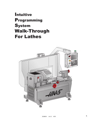 Haas Lathe Intuitive Programming Manual