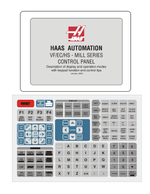 Haas VF/EC/HS Mill Control Panel Operation