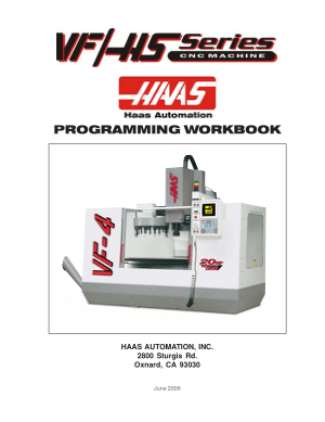 Haas VF/HS Series Programming Workbook