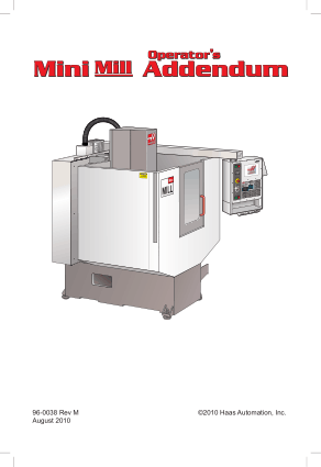 Haas Mini Mill Operator Manual