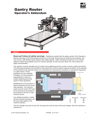 Haas Gantry Router Operator Manual