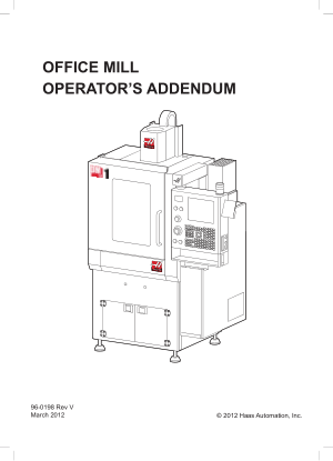 Haas Office Mill Operator Manual
