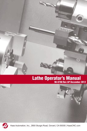 Haas Lathe Operators Manual