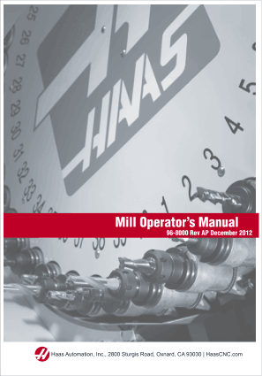 Haas Mill Operators Manual