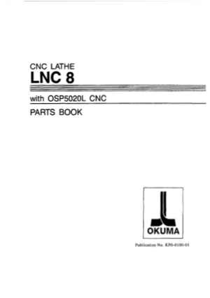 Okuma LNC 8 OSP5020L Parts Book