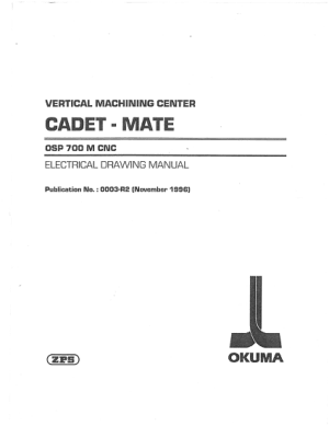 Okuma CADET-MATE OSP700M Electrical Drawing