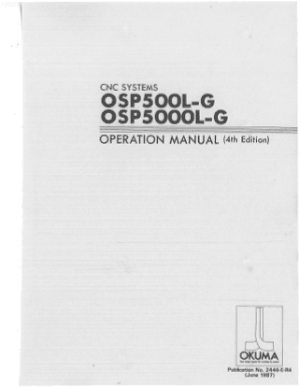 Okuma OSP500L-G OSP5000L-G Operation Manual