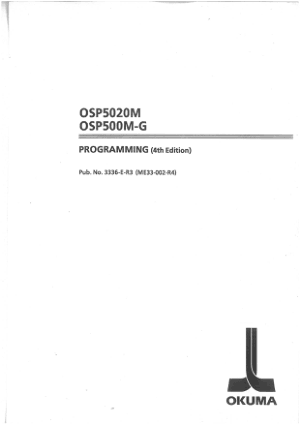 Okuma OSP5020M OSP500M-G Programming Manual