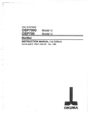 Okuma OSP7000 Model U MacMan Instruction Manual