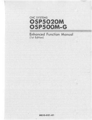 Okuma OSP5020M OSP500M-G Enhanced Function Manual