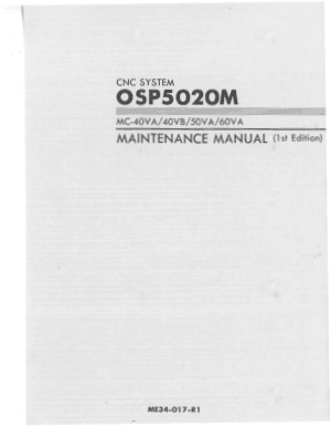 Okuma OSP5020M MC-40VA 40VB 50VA 60VA Maintenance Manual