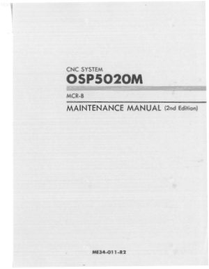 Okuma OSP5020M MCR-B Maintenance Manual