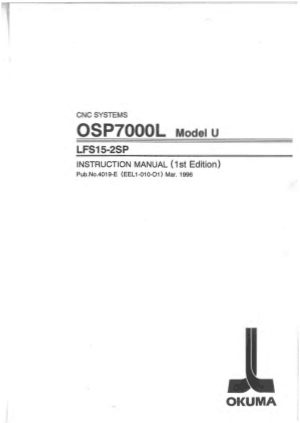 Okuma OSP7000L Model U LFS15-2SP Instruction Manual