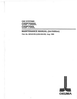 Okuma OSP7000L OSP700L Maintenance Manual