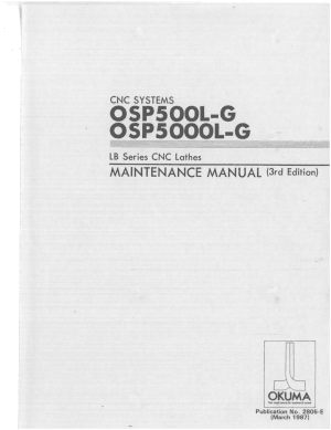 Okuma OSP500L-G OSP5000L-G LB Maintenance Manual