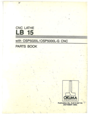Okuma LB 15 OSP5020L OSP5000L-G Parts Book