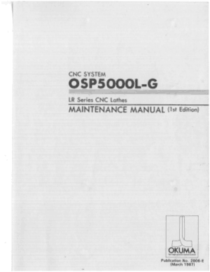 Okuma OSP5000L-G LR Maintenance Manual