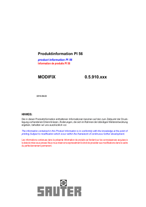 Sauter PI 56 MODIFIX