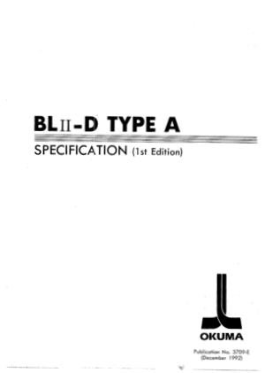 Okuma BLII-D TYPE A Specification