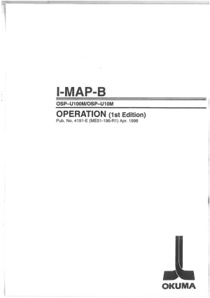 Okuma I-MAP-B OSP-U100M Operation