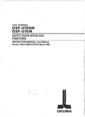 Okuma OSP-UI00M Safety Door Interlock Instruction Manual