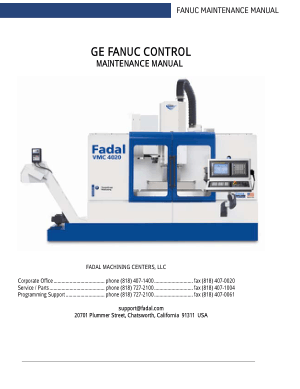 Fadal VMC Fanuc Maintenance Manual