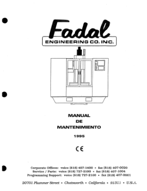 Fadal Manual de Mantenimiento