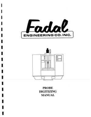 Fadal Probe Digitizing Manual