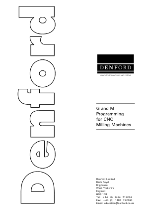 Denford G and M Programming Manual for CNC Milling Machines