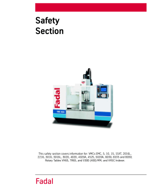 Fadal Siemens Control Maintenance Manual