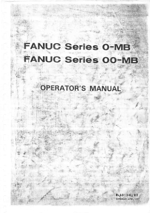 Fanuc 0-MB Operator Manual 60134E