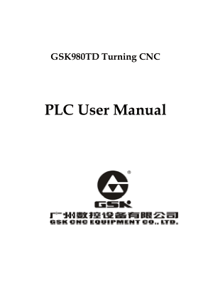 GSK980TD Turning PLC User Manual