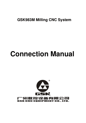GSK983M Milling CNC Connection Manual