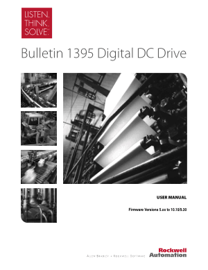 Allen Bradley Bulletin 1395 Digital DC Drive User Manual