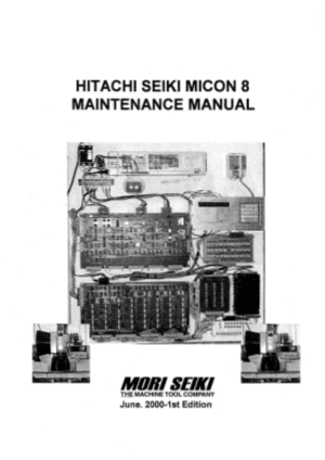 Hitachi Seiki MICON 8 Maintenance Manual