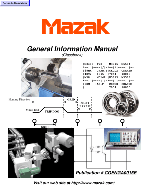 Mazak General Information Manual Classbook