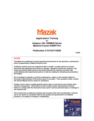 Mazak Integrex Applications Training Machine Alignments