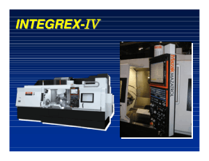 Mazak Integrex MKIV Alignment Notes