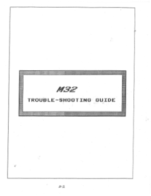 Mazak M32 Troubleshooting Guide