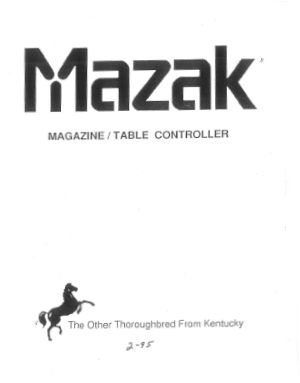 Mazak Magazine Table Controller