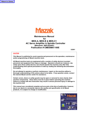 mazak maintenance manual mds a ac servo amplifier spindle controller rh cncmanual com Mazak Machine Mazak CNC Lathe Programming