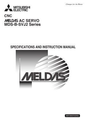 Mitsubishi Meldas AC Servo MDS-B SVJ2 Specifications Instruction