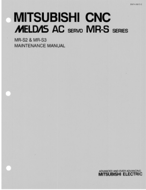 Mitsubishi Meldas AC Servo MR-S Maintenance Manual