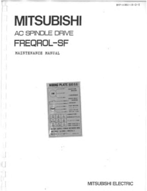 Mitsubishi AC Spindle Drive FREQROL-SF Maintenance Manual